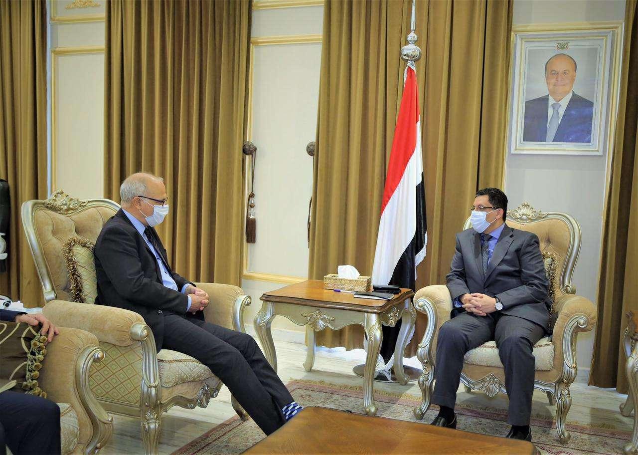 وزير الخارجية يناقش مع السفير البريطاني الجهود الدولية لتحقيق السلام