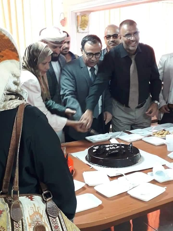 رئيس جامعة عدن ومدير مؤسسة المياه يحضران حفل تكريم عدد من عمال المؤسسة