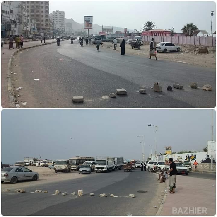 حضرموت: مواطنون يغلقون عدداً من الشوارع احتجاجاً على انقطاع الكهرباء.