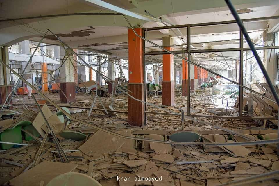 شاهد بالصور .. كيف أصبح مطار تعز الدولي (صور مؤلمة)